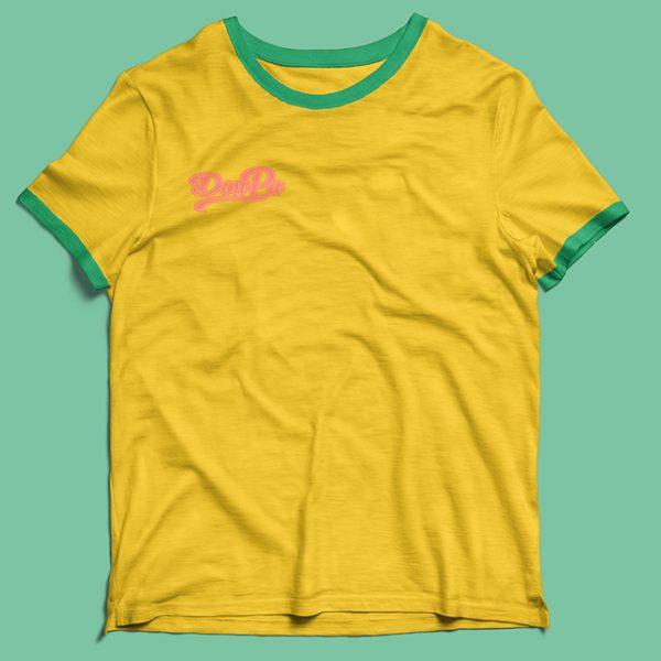 camiseta Contando Lunares amarilla/verde de Don Patricio.