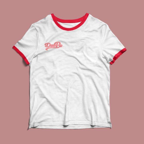 camiseta Contando Lunares blanca/roja de Don Patricio