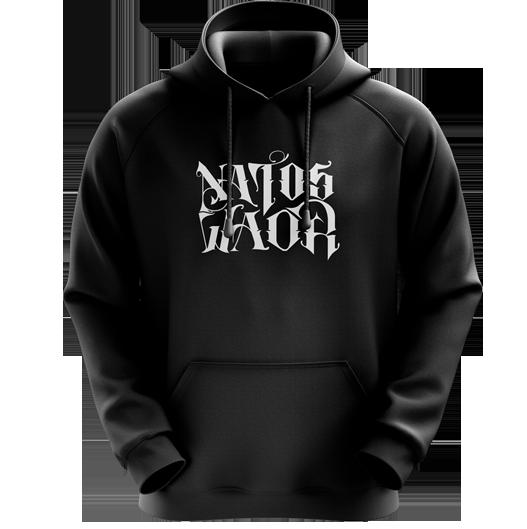 SUDADERA NATOS Y WAOR NEGRA