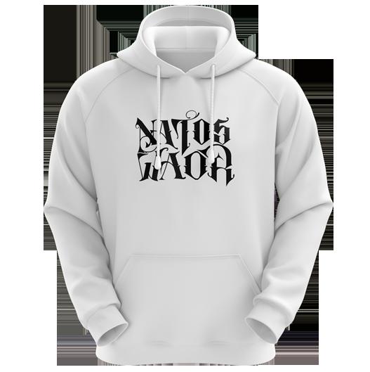 SUDADERA NATOS Y WAOR BLANCA