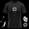 pack camiseta negra + parches + mecheros de Recycled J