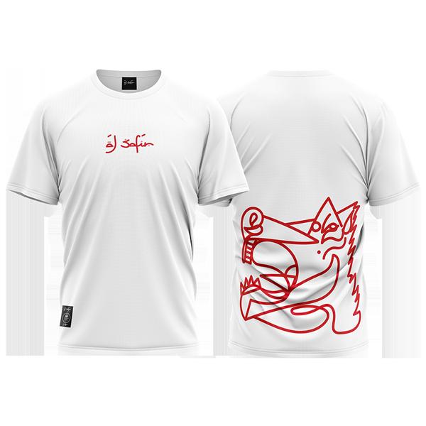 camiseta Caballo Ganador rojo blanca de Al Safir