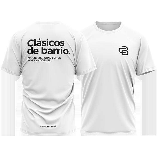 camiseta Clásicos de Barrio blanca