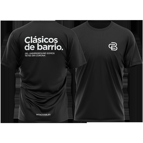 camiseta Clásicos de Barrio negra